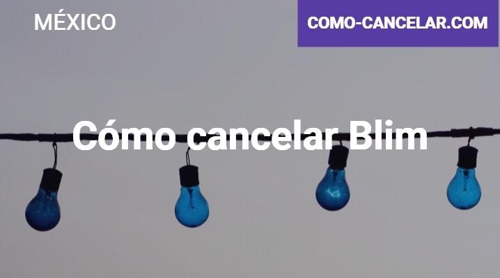 Cómo cancelar Blim