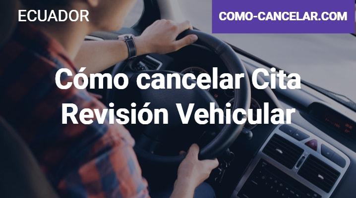 Cómo cancelar Cita Revisión Vehicular
