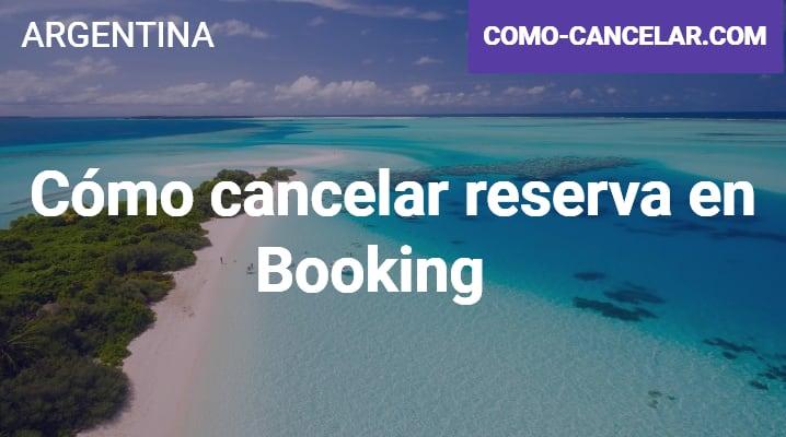 Cómo cancelar reserva en Booking