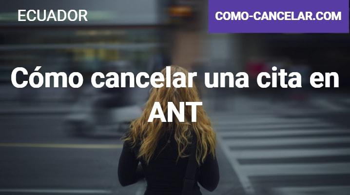 Cómo cancelar una cita en ANT